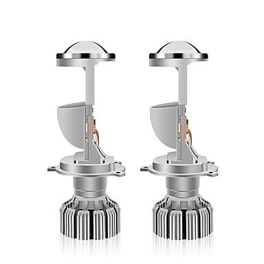 voordelige Autokoplampen-otolampara 1 set lijnpatroonstraal 65w 10000lm h4 dual beam projectorlens geïntegreerde led-koplampenset