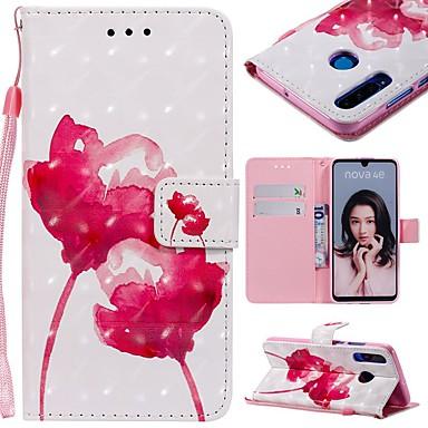 ieftine Carcase / Huse de Huawei-Maska Pentru Huawei P20 Pro / Huawei P30 Lite Portofel / Titluar Card / Anti Șoc Carcasă Telefon Floare Greu PU piele pentru Huawei P20 / Huawei P20 Pro / Huawei P20 lite
