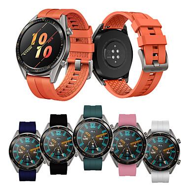 Недорогие Ремешки для часов Huawei-Спортивный силиконовый браслет ремешок для часов ремешок для часов Huawei GT / Huawei часы 2 Pro / Ticwatch Pro замена браслет браслет смарт-часы аксессуар
