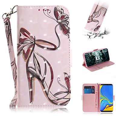voordelige Galaxy A-serie hoesjes / covers-hoesje Voor Samsung Galaxy Galaxy A7(2018) / A3 (2017) / A5 (2017) Portemonnee / Kaarthouder / met standaard Volledig hoesje Sexy dame PU-nahka