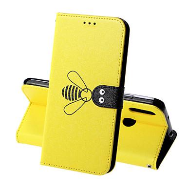 ieftine Carcase / Huse de Huawei-Maska Pentru Huawei Honor 9 Lite / Enjoy 7S Portofel / Titluar Card / Anti Șoc Carcasă Telefon Mată / Animal Greu PU piele pentru Huawei Honor 10 / Onorată 10 Lite / Onorați V20