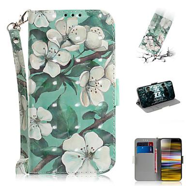 voordelige Hoesjes / covers voor Sony-hoesje Voor Sony Sony Xperia L3 / Sony Xperia 10 / Sony Xperia 10 Plus Portemonnee / Kaarthouder / met standaard Volledig hoesje Bloem PU-nahka