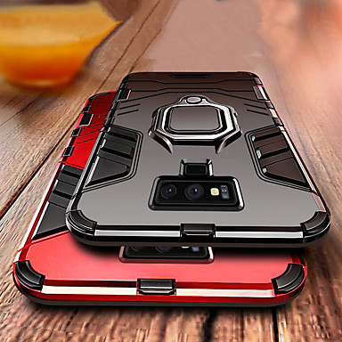 voordelige Galaxy Note-serie hoesjes / covers-luxe armor ring stand case voor Samsung Galaxy Note 9 schokbestendige hoes dekking noot 9 zachte siliconen TPU autohouder geval