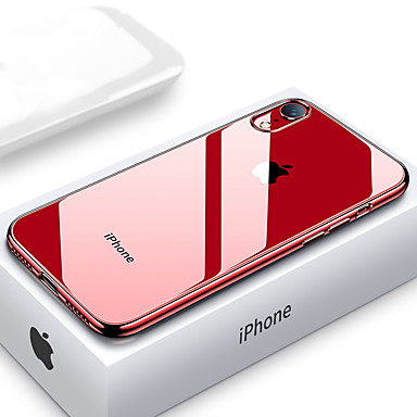 voordelige iPhone-hoesjes-ultra dunne transparante telefoon hoes voor iphone xs max xr xs x 8 plus 8 7 plus 7 6 plus 6 plating zachte tpu siliconen volledige dekking schokbestendig