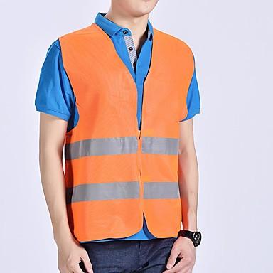 Недорогие Средства индивидуальной защиты-мотоцикл мотоцикл повышенной безопасности видимость светоотражающий жилет предупреждение жилет светоотражающие полосы куртка