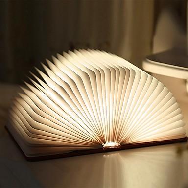 Недорогие Необычное LED освещение-1шт Книга Настольный ночной светильник Встроенная литий-батарея Складной / Перезаряжаемый / Магнитный