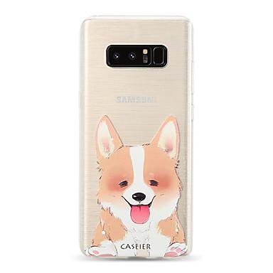 Недорогие Чехлы и кейсы для Galaxy S6 Edge-чехол для samsung galaxy s8 / s7 edge полупрозрачный / пыленепроницаемый / задняя крышка с рисунком кошка / собака мягкое тпу / водонепроницаемый мода / индивидуальность творчество тиснение мягкий
