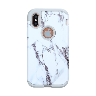 cheap iPhone Cases-Case For Apple iPhone XS / iPhone XR / iPhone XS Max Shockproof Back Cover Marble / Color Gradient PC / Silica Gel