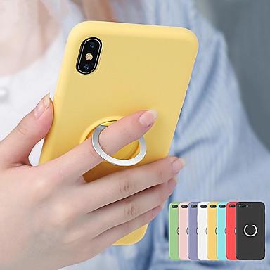 voordelige iPhone X hoesjes-magnetische ring zachte tpu case voor iphone xs max xr xs x 8 plus 8 7 plus 7 6 plus 6 vloeibare siliconen schokbestendige houderhoes