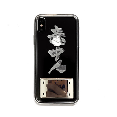 voordelige iPhone 6 hoesjes-hoesje Voor Apple iPhone XS / iPhone XR / iPhone XS Max LED / Transparant / Patroon Achterkant Woord / tekst TPU