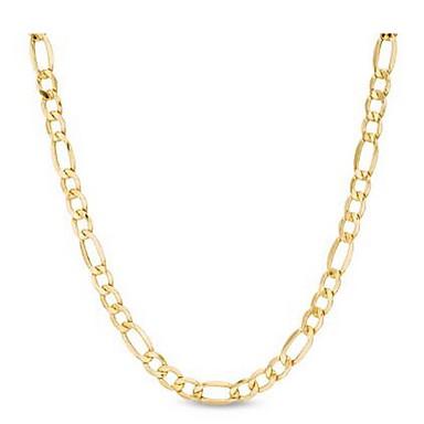 ieftine Colier la Modă-Lănțișoare Figaro lanț Mariner Chain Modă 18K Placat cu Aur Placat Auriu Aur Alb Auriu Coliere Bijuterii Pentru Nuntă Petrecere Zilnic Casual
