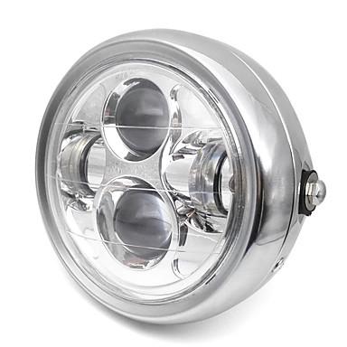 voordelige Motorverlichting-6.5 inch retro metalen koplamp 35 w led motorfiets koplamp