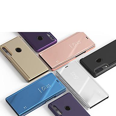 voordelige Galaxy J-serie hoesjes / covers-hoesje Voor Samsung Galaxy A3 (2017) / A5 (2017) / A7 (2017) met standaard / Spiegel Volledig hoesje Effen PU-nahka / PC
