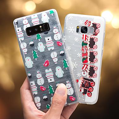 Недорогие Чехлы и кейсы для Galaxy S6-чехол для samsung galaxy s8 plus / s8 / s7 edge пыленепроницаемый / ультратонкий / полупрозрачный задняя крышка мультяшный мягкий тпу / непромокаемый / против падения / креативная мода тисненый чехол