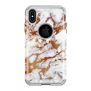 cheap iPhone Cases-Case For Apple iPhone XS / iPhone XR / iPhone XS Max Shockproof Back Cover Marble PC