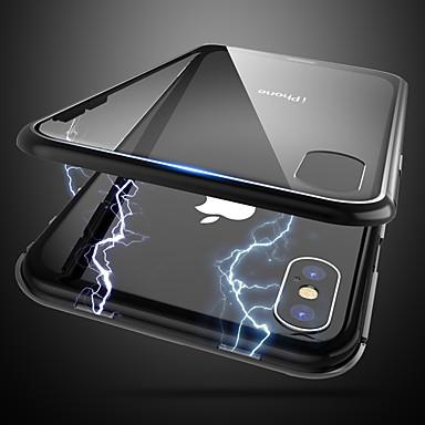 Недорогие Кейсы для iPhone-чехол для apple iphone x / iphone 8 plus пылезащитный / ультратонкий / полупрозрачный задняя крышка полупрозрачное закаленное стекло / водонепроницаемый / модный чехол для телефона iphone 6 / 6s plus