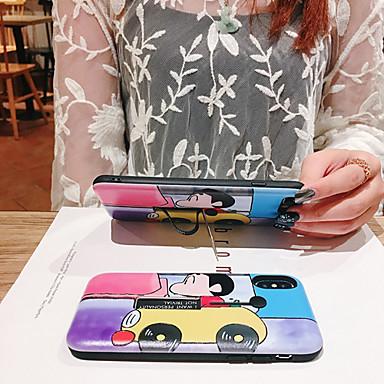 voordelige iPhone 6 hoesjes-hoesje Voor Apple iPhone XS / iPhone XR / iPhone XS Max Stofbestendig / met standaard / Patroon Achterkant Cartoon PC