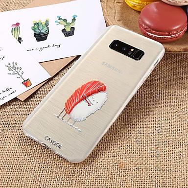 Недорогие Чехлы и кейсы для Galaxy S6 Edge-Кейс для Назначение SSamsung Galaxy S9 / S9 Plus / S8 Plus Водонепроницаемый / Защита от пыли / Полупрозрачный Кейс на заднюю панель Продукты питания ТПУ