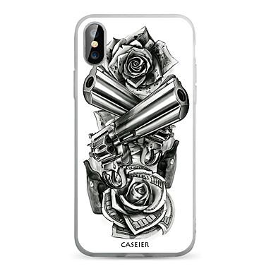 voordelige iPhone 5 hoesjes-hoesje voor Apple iPhone XS / X / iPhone XS Max / XR stofdicht / doorschijnend / patroon achterkant bloem zacht TPU / waterdicht / mode shell telefoonhoesje voor iPhone 5 / 5s / SE / 6 / 6S / iPhone 6
