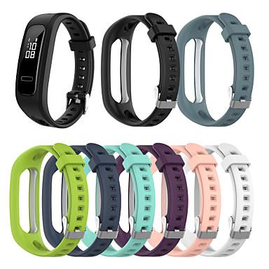 Недорогие Ремешки для часов Huawei-ремешок для часов для бега huawei honor 4 и ремешка 3e sport band силиконовый ремешок