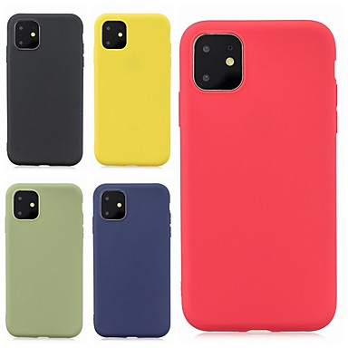 voordelige iPhone X hoesjes-hoesje Voor Apple iPhone 11 / iPhone 11 Pro / iPhone 11 Pro Max Ultradun / Mat Achterkant Effen TPU
