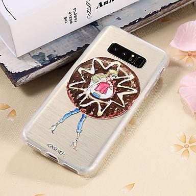 Недорогие Чехлы и кейсы для Galaxy S6 Edge-Кейс для Назначение SSamsung Galaxy S8 Plus / S8 / S7 edge Водонепроницаемый / Защита от пыли / Полупрозрачный Кейс на заднюю панель Соблазнительная девушка ТПУ