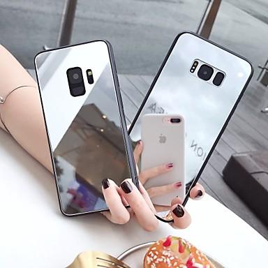 voordelige Galaxy Note-serie hoesjes / covers-hoesje Voor Samsung Galaxy S9 / S9 Plus / S8 Plus Spiegel / Ultradun / Patroon Achterkant Effen TPU