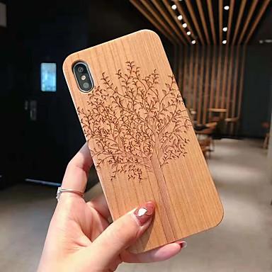 voordelige iPhone 6 hoesjes-hoesje voor apple iphone xs / iphone xr / iphone xs max / 7 8 plus / 6splus / 6s reliëf / patroon achterkant schedel / boom / bloem houten