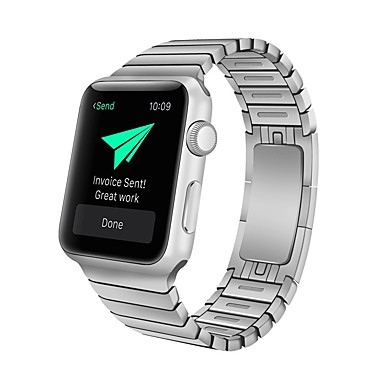 voordelige Smartwatch-accessoires-Horlogeband voor Apple Watch Series 4 / Apple Watch Series 3 Apple Klassieke gesp Roestvrij staal Polsband