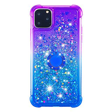 voordelige iPhone 7 hoesjes-hoesje Voor Apple iPhone 11 / iPhone 11 Pro / iPhone 11 Pro Max Schokbestendig / Stofbestendig / Strass Achterkant Glitterglans / Kleurgradatie TPU