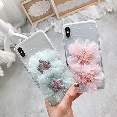 voordelige iPhone 6 hoesjes-hoesje Voor Apple iPhone XS / iPhone XR / iPhone XS Max Transparant / DHZ Achterkant Bloem TPU