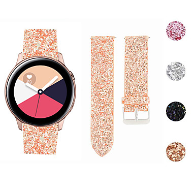 voordelige Horlogebandjes voor Samsung-horlogeband voor Samsung Galaxy Watch actieve Flash Star Glitter lederen polsband