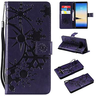 voordelige Galaxy Note-serie hoesjes / covers-hoesje Voor Samsung Galaxy Note 8 / Note 3 / Galaxy Note 4 Portemonnee / Kaarthouder / Flip Volledig hoesje Landschap PU-nahka / TPU