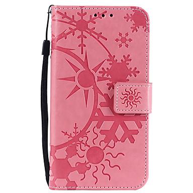 voordelige Galaxy Note-serie hoesjes / covers-hoesje Voor Samsung Galaxy Note 8 / Note 4 / Note 3 Kaarthouder Volledig hoesje Geometrisch patroon PU-nahka / PC
