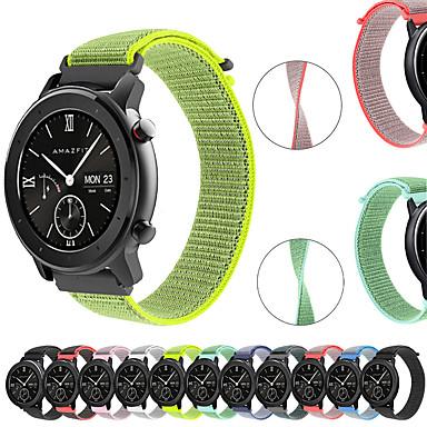 voordelige Horlogebandjes voor Samsung-geweven nylon horlogeband polsband voor xiaomi huami amazfit gtr 42 mm / amazfit bip jeugd / samsung galaxy horloge 42 mm smart watch armband polsband vervangbare accessoires