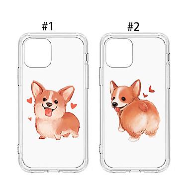 voordelige iPhone X hoesjes-hoesje Voor Apple iPhone 11 / iPhone 11 Pro / iPhone 11 Pro Max Stofbestendig / Patroon Achterkant Hond / Transparant / Cartoon TPU