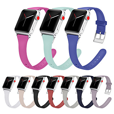 voordelige Smartwatch-accessoires-siliconen horlogeband polsband voor Apple Watch-serie 5/4/3/2/1 vervangbare armband polsband 38 / 40mm 42 / 44mm