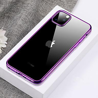 voordelige iPhone-hoesjes-Ultradunne transparante TPU-telefoonhoes voor iPhone 11 Pro / iPhone 11 / iPhone 11 Pro Max Plating zachte siliconen volledige hoes schokbestendig