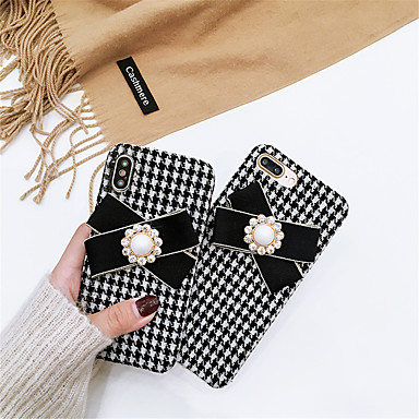 voordelige iPhone X hoesjes-hoesje Voor Apple iPhone XS / iPhone XR / iPhone XS Max Strass / Patroon Achterkant Vlinder tekstiili