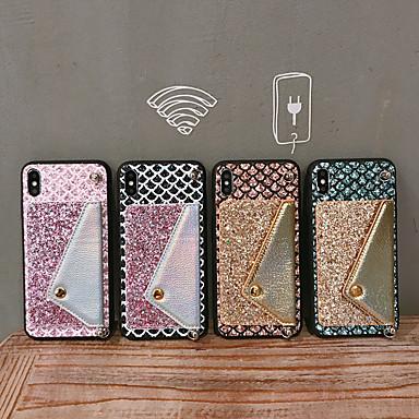 voordelige iPhone 6 hoesjes-glimmende krokodil lederen portemonnee hoes voor iPhone 11/11 pro / 11pro max / xr / xs max / xr / x / 7/8 / 6s / 6 plus diamant glanzende regenboog telefoonhoesje