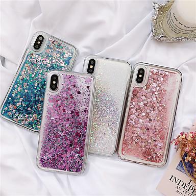 voordelige iPhone 6 hoesjes-hoesje Voor Apple iPhone XS / iPhone XR / iPhone XS Max Stromende vloeistof / Glitterglans Achterkant Effen TPU