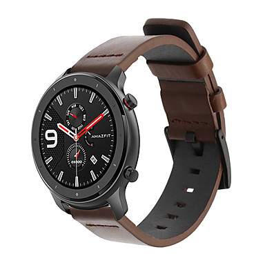 رخيصةأون أساور ساعات Huawei-جلد طبيعي حزام رباط المعصم ل xiaomi huami amazfit gtr 42 ملليمتر / amazfit bip للشباب / هواوي ووتش 2 سوار معصمه استبدال