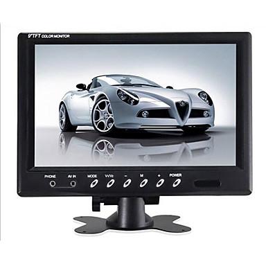 voordelige Auto-achteruitkijkcamera-9 inch tft lcd-monitor - 800x480 ntsc / pal hoofdsteun montageframe tweeweg video-ingang 7w