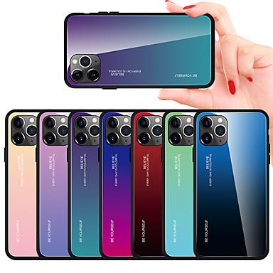 voordelige iPhone-hoesjes-gradiënt gehard glazen hoesje voor iphone 11 pro max / iphone 11 pro / iphone 11 / xs max xr xs x 8 plus 8 7 plus 7 6 plus 6 telefoonhoesjes dekking siliconen zachte tpu beschermende fundas