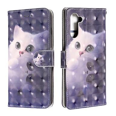 voordelige Galaxy Note-serie hoesjes / covers-hoesje voor Samsung Galaxy Note 9 / Galaxy Note 10 / Galaxy Note 10 plus portemonnee / kaarthouder / flip full body hoesjes kat pu leer