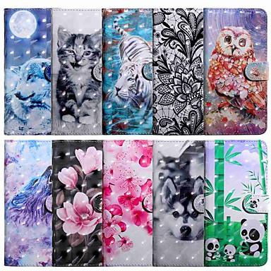 voordelige iPhone 7 hoesjes-hoesje Voor Apple iPhone 11 / iPhone 11 Pro / iPhone 11 Pro Max Portemonnee / Kaarthouder / met standaard Volledig hoesje Kat PU-nahka / TPU
