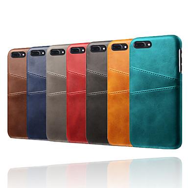 voordelige iPhone X hoesjes-hoesje voor Apple iPhone XR / iPhone XS schokbestendige achterkant effen gekleurd zacht TPU / PU-leer voor iPhone 6 / iPhone 6 Plus / 7 / 7pius / 8 / 8pius / X / XS