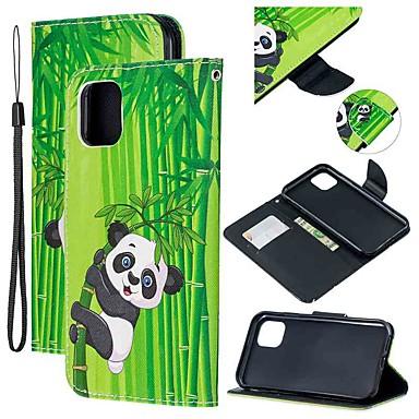 voordelige iPhone-hoesjes-hoesje Voor Apple iPhone 11 / iPhone 11 Pro / iPhone 11 Pro Max Portemonnee / Kaarthouder / met standaard Volledig hoesje Panda PU-nahka