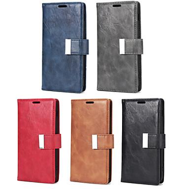 voordelige Galaxy S-serie hoesjes / covers-hoesje Voor Samsung Galaxy S9 / S9 Plus / S8 Plus Portemonnee / Kaarthouder / met standaard Volledig hoesje Effen PU-nahka / TPU