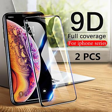 voordelige iPhone screenprotectors-2 stks 9d gehard glas volledig scherm beschermer voor iPhone 11/11 pro / 11 pro max / xs max / xr / xs / x